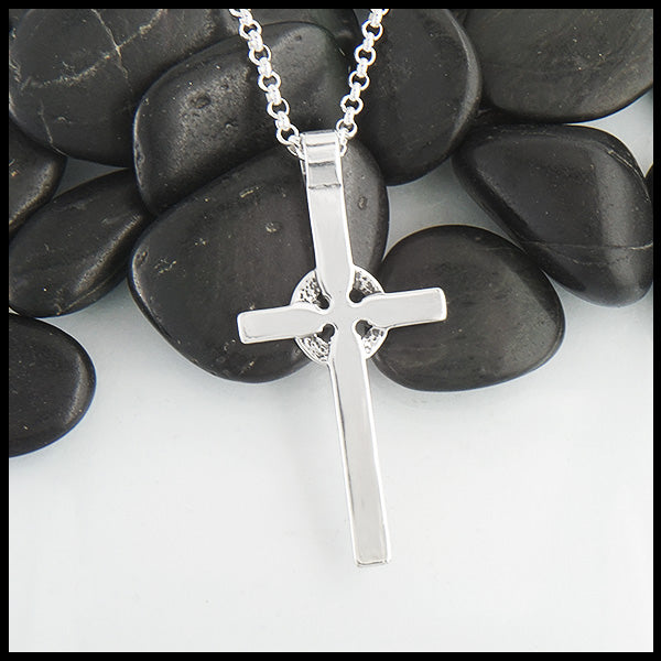 Sterling Silver plain Celtic Cross