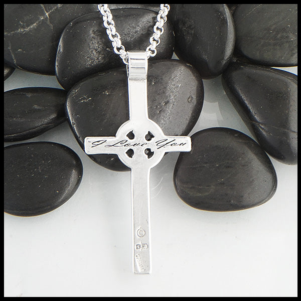 Personalized Kilmory Cross in Sterling Silver