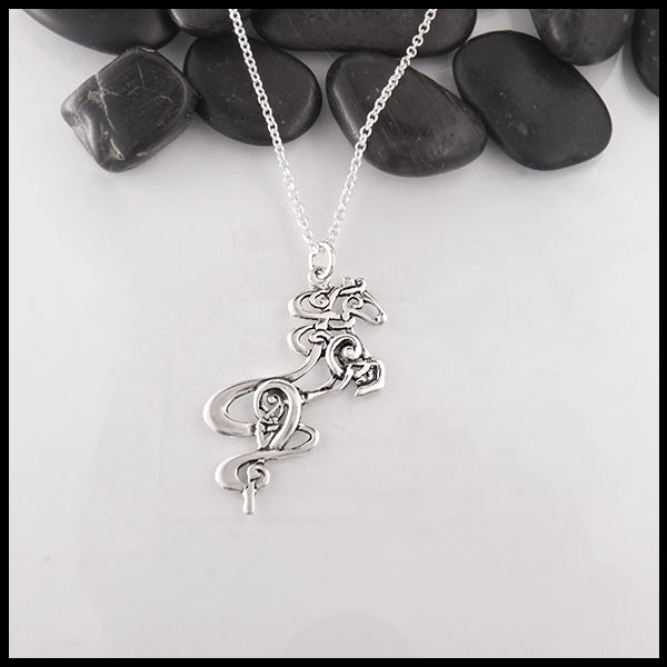 Silver Celtic Horse by Walkers Celtic Jewelry