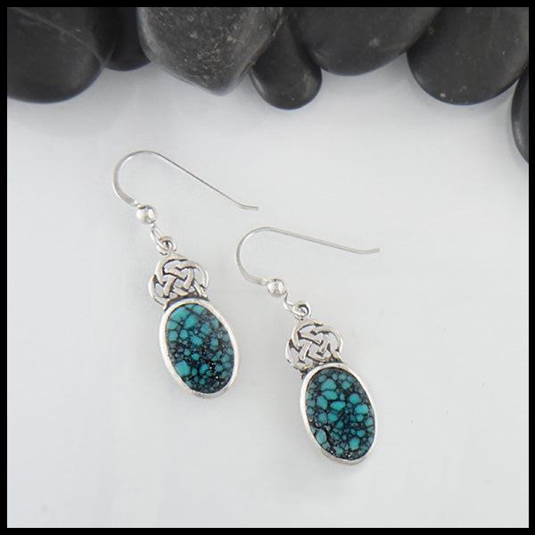 Turquoise Josephine's Knot Drop Earrings