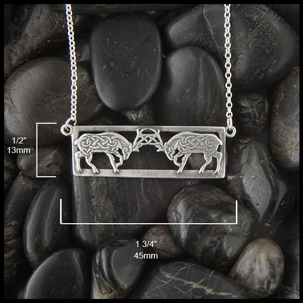 Celtic Deer Bar Pendant