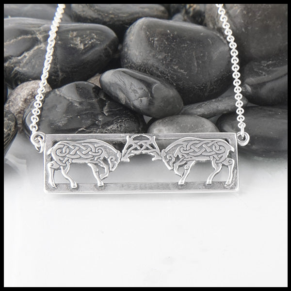 Celtic Deer Necklace in sterling silver