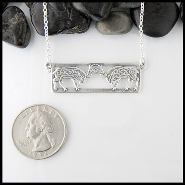 Celtic Stag pendant in Sterling silver