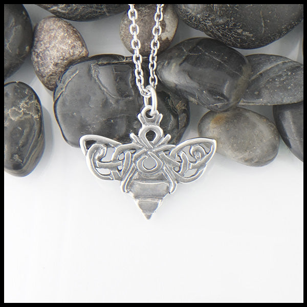 Celtic Bee Sterling Silver Necklace