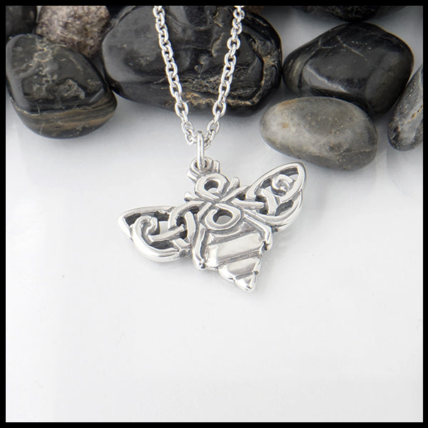 Walker Metalsmiths Celtic Bee Pendant
