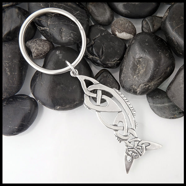 Celtic Fish Key Ring
