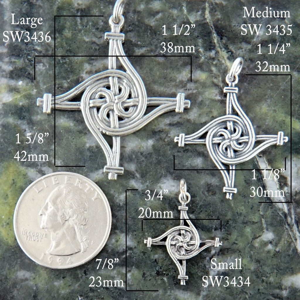 Large St. Brigid's Spiral Cross