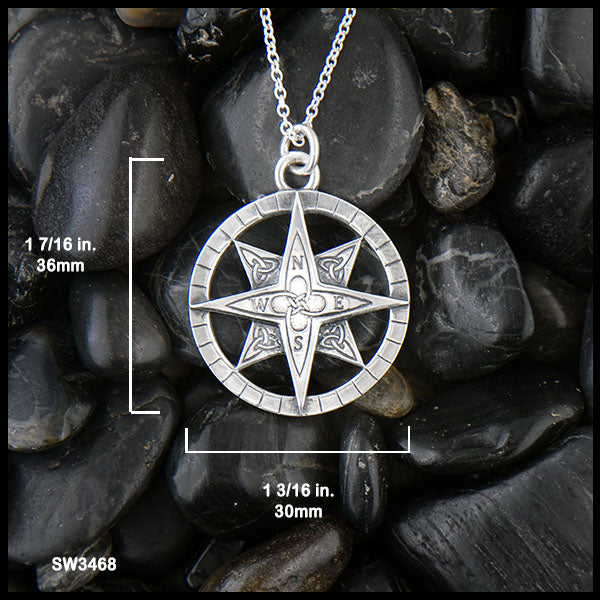 Large Celtic Compass diameter of 30 mm