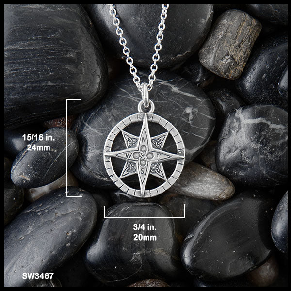Small Celtic Compass Diameter is 20 mm