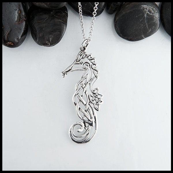 Celtic Seahorse Pendant by Walker Metalsmiths