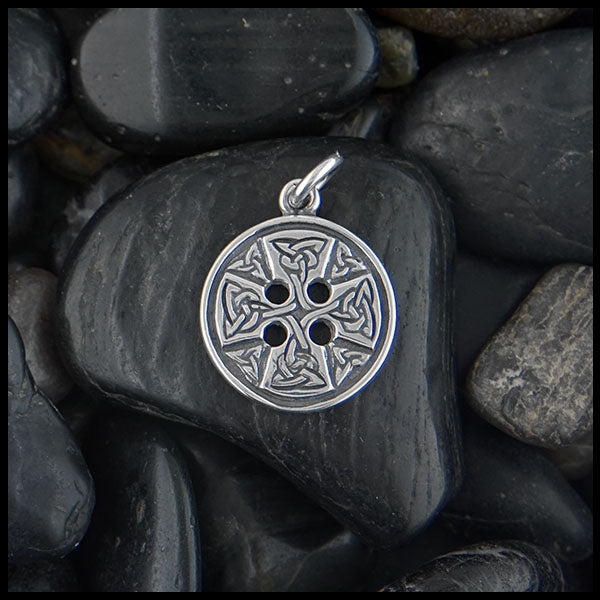 Celtic Medallion Cross by Walker Metalsmiths