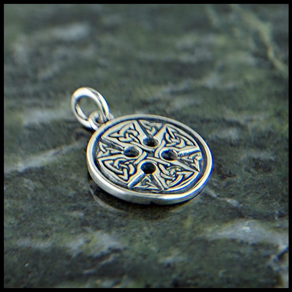 Medallion Celtic Cross in Sterling Silver