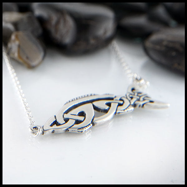 Salmon of Knowledge Celtic Necklace by Walker's Celtic Jewelry