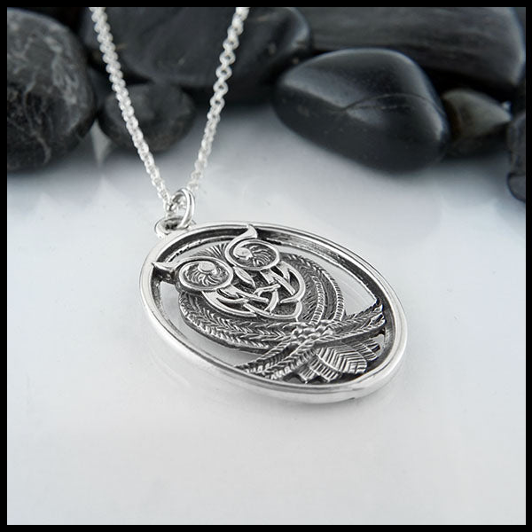 Celtic Owl necklace by Walker Metalsmiths