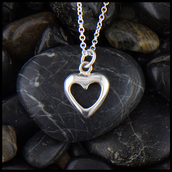 Sterling Simple Heart Pendant