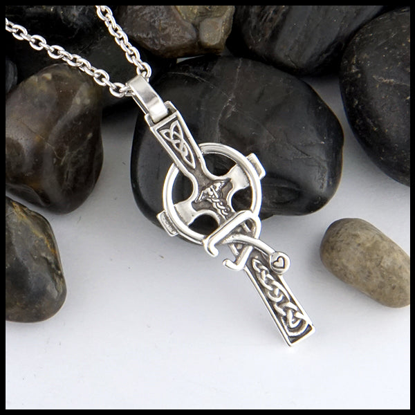 small celtic caring cross by Walker Metalsmiths
