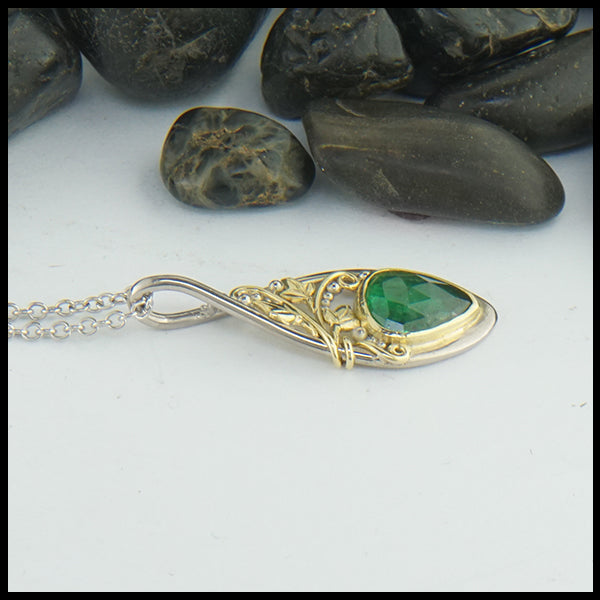 Ivy and Tsavorite Custom Pendant