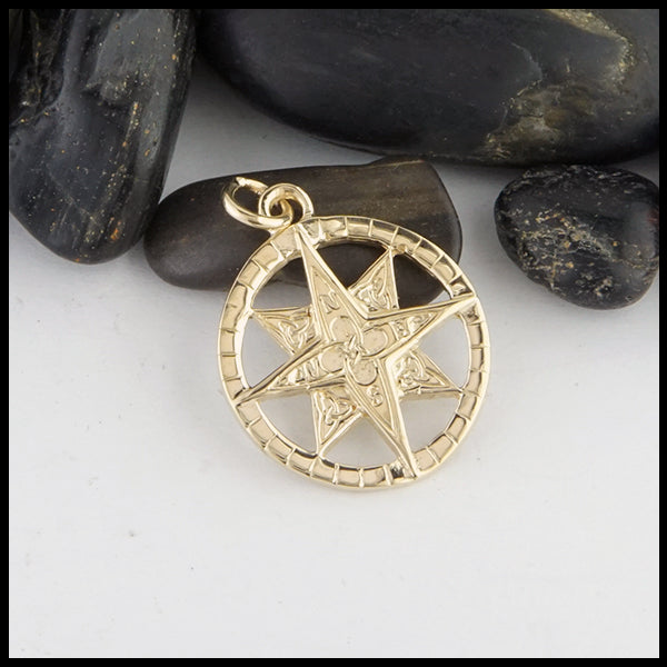 Small Gold Celtic Compass by Walker Metalsmiths