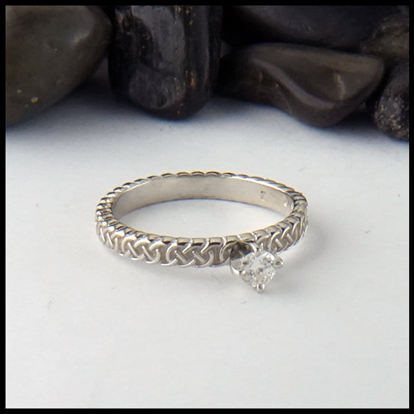 Josephine's Knot Ring with Reclaimed Diamond
