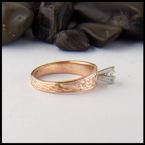 Celtic Ring with Reclaimed Diamond