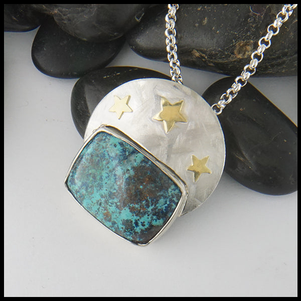 Starry Pendant in Silver and Gold