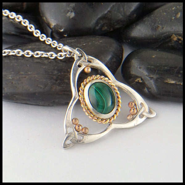 Malachite Celtic Pendant