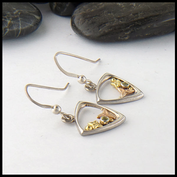 Peridot Celtic Earrings