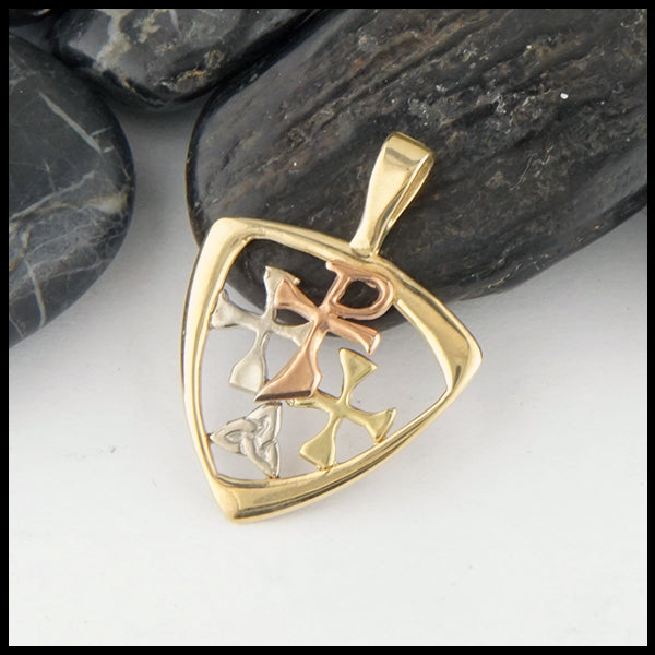 Chi Rho Pendant in Gold