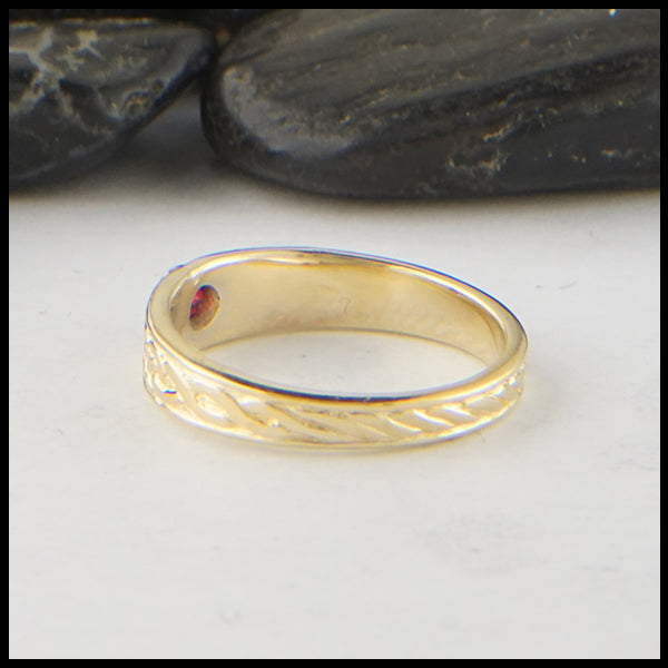 Celtic Ring with Ruby