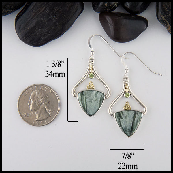 Seraphinite Custom Earrings