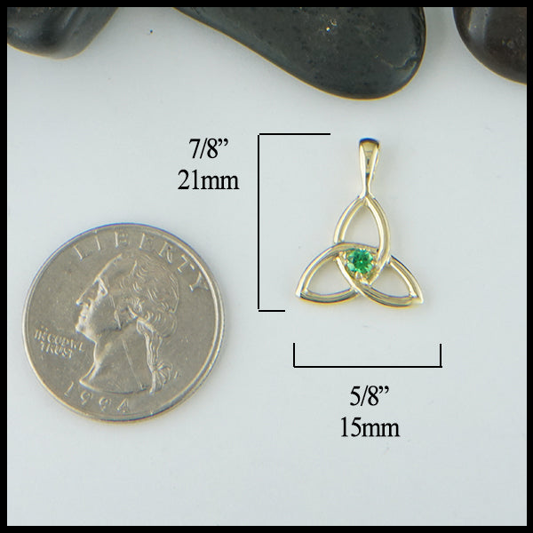 Trinity Knot and Gemstone Pendant