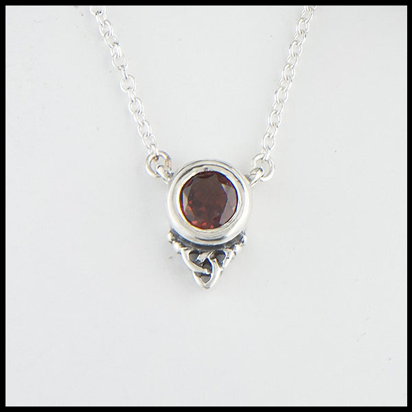 Trinity Necklace with Gemstones