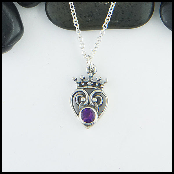 Amethyst Luckenbooth Pendant