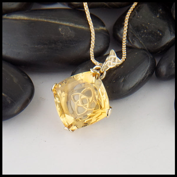 Starlight Citrine Custom Pendant