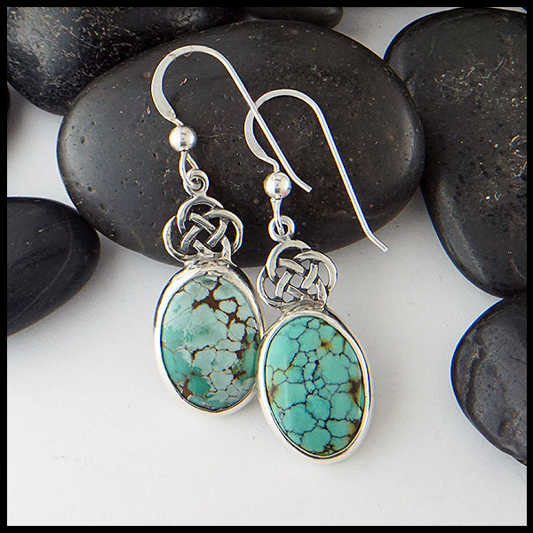 Turquoise Josephine's Knot Earrings