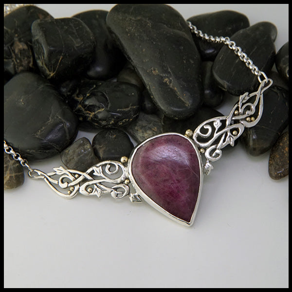 Ruby Ivy Bar Pendant
