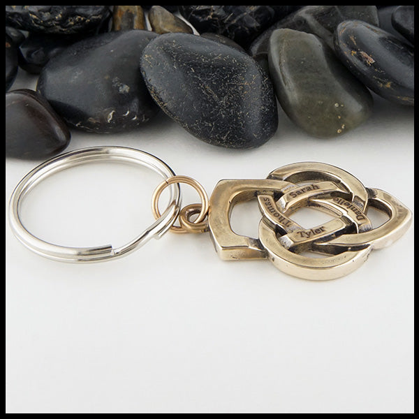 Bronze Father's Knot Key Chain