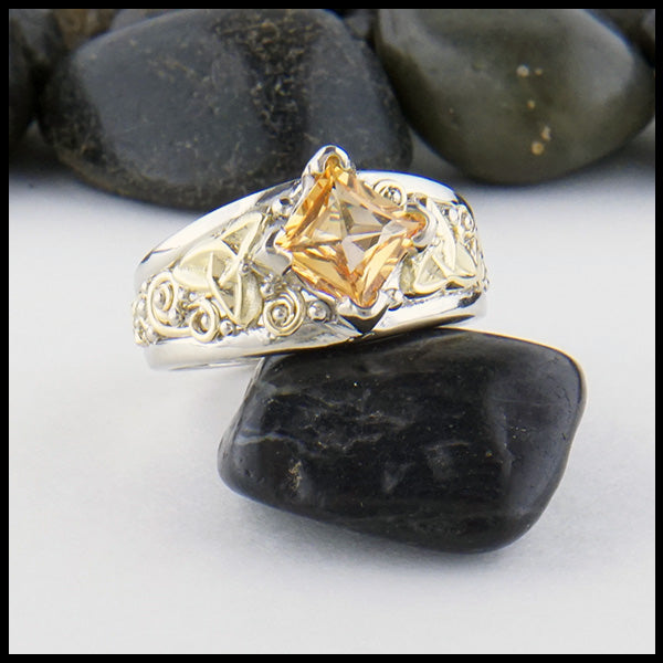 Orange Sapphire Custom Ring