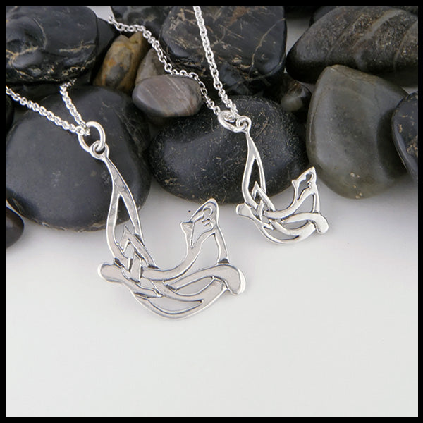 Celtic Otter Pendant in Sterling Silver by Walker Metalsmiths