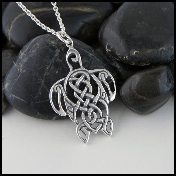 Celtic Turtle pendant in Sterling Silver