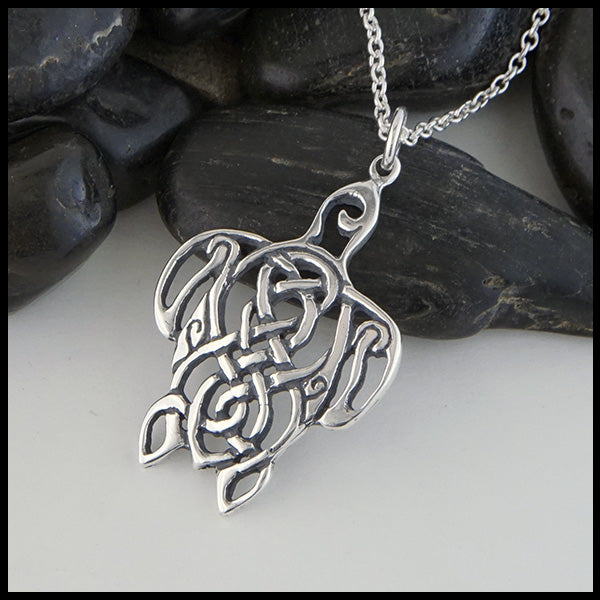 Celtic knot  Turtle by Walkers Celtic Jewelry in Silver