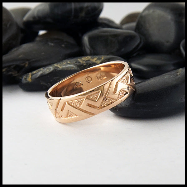 Pictish Key Pattern Ring in Gold