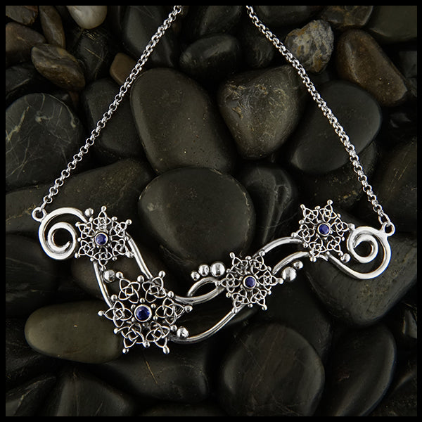 Celtic Snowflake and Sapphire pendant