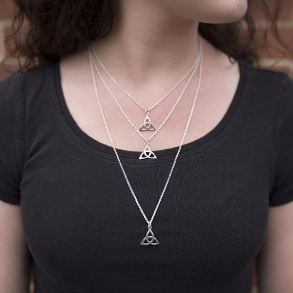 Triquetra Pendant in Sterling Silver
