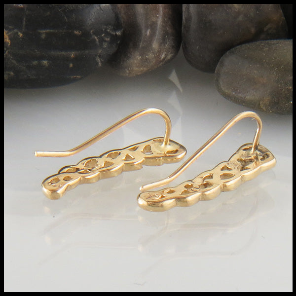 Heart ear crawler in Gold