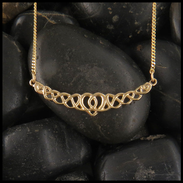 Celtic heart bar pendant