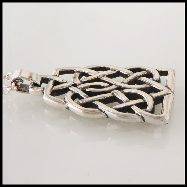 Celtic Heart and Hourglass Pendant