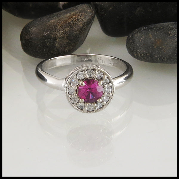 Pink Sapphire celtic engagement ring