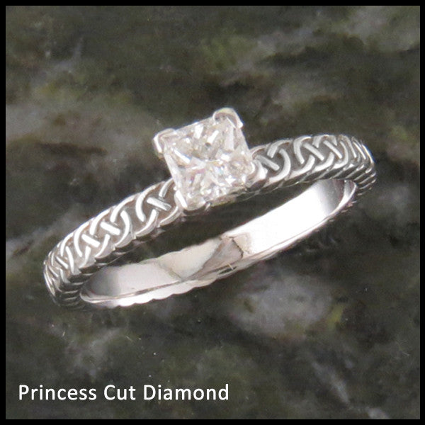 Josephine's Knot, Lover's Knot Celtic Engagement Ring with Diamond
