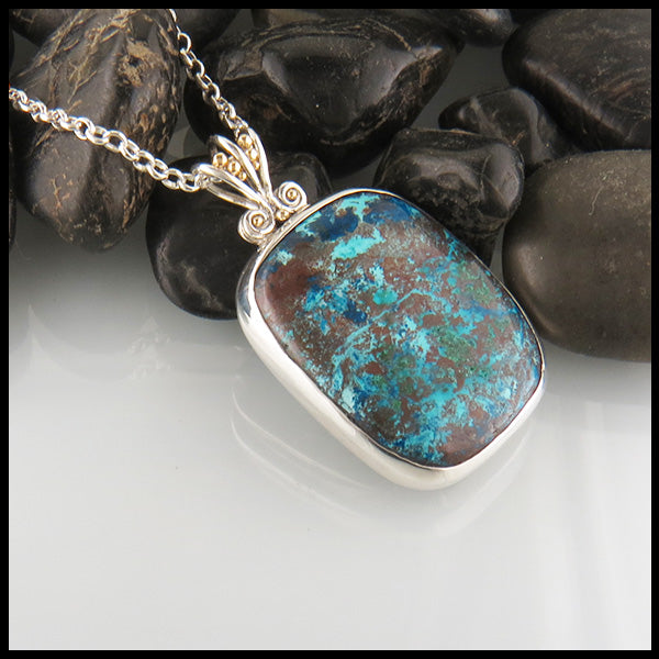Tropical Azurite Pendant